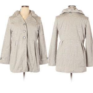 Toffee Apple silver jacket nwt XL dress jacket
